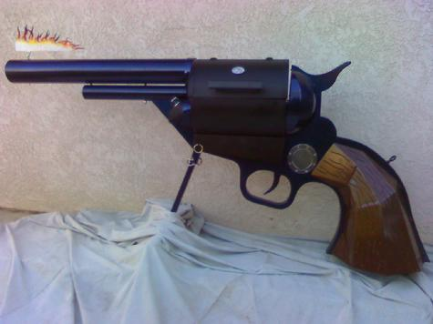 All steel frame Colt 45 cal. BBQ handgun.
