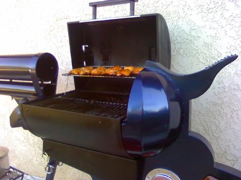 Pistol grip BBQ gun, 9' long.